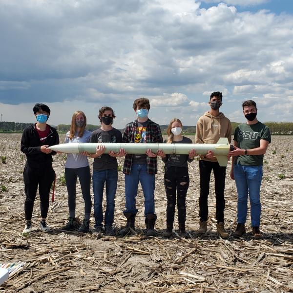 WU Rocketry Team celebrates successful launch