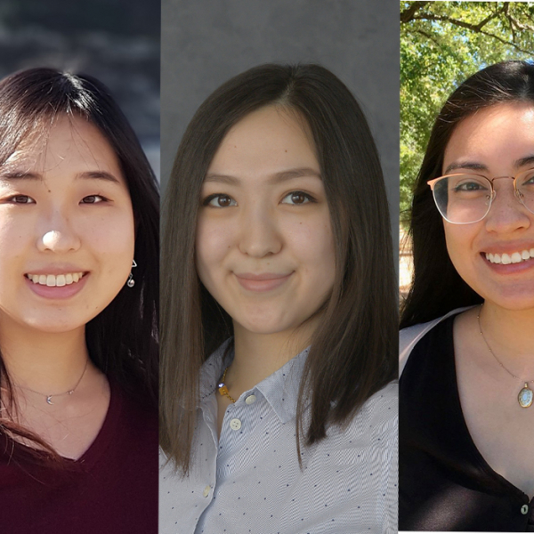 Introducing Ye Jin Han, Meruyert Iskakova, and Nicole Rodriguez - new grad fellows in Physics