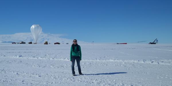 Johanna Nagy in Antarctica